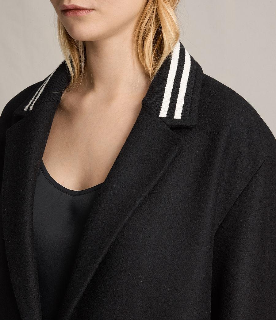 Women's Oren Rib Coat (black) - Image 2