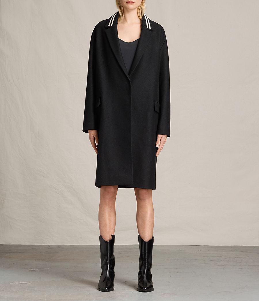 Women's Oren Rib Coat (black) - Image 3