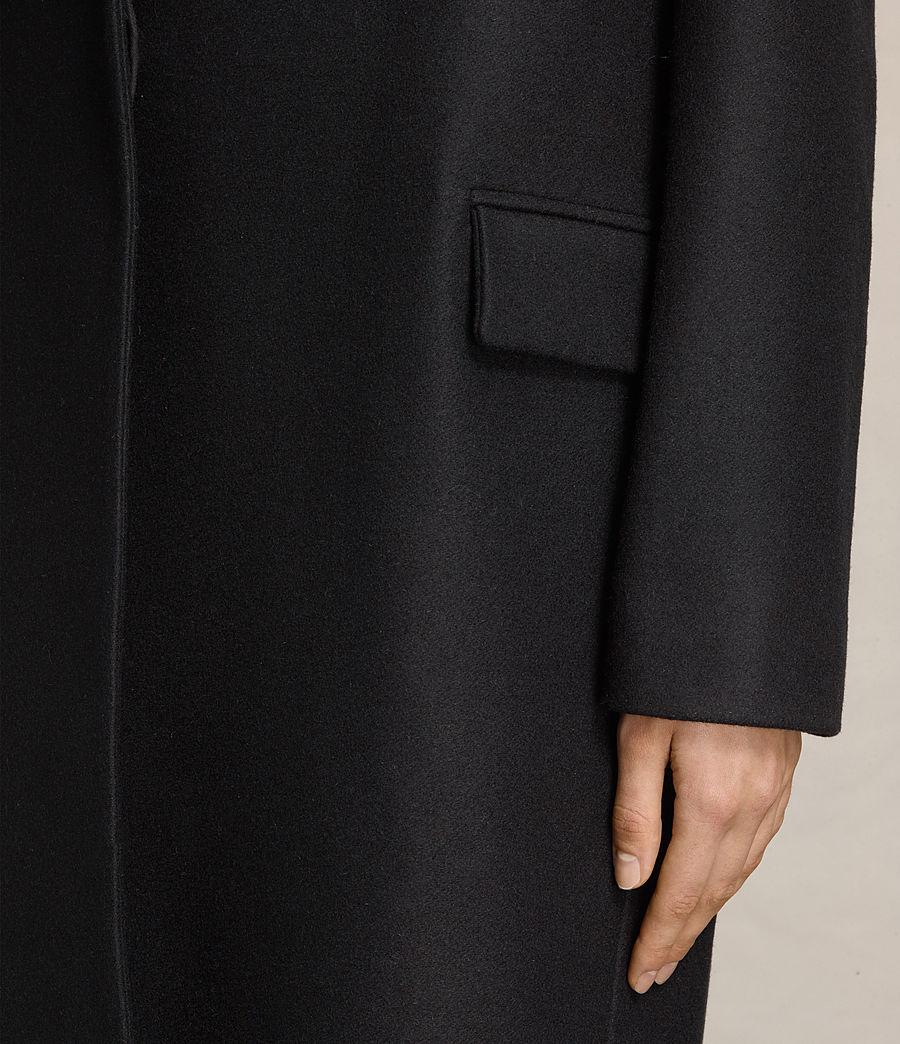 Women's Oren Rib Coat (black) - Image 4