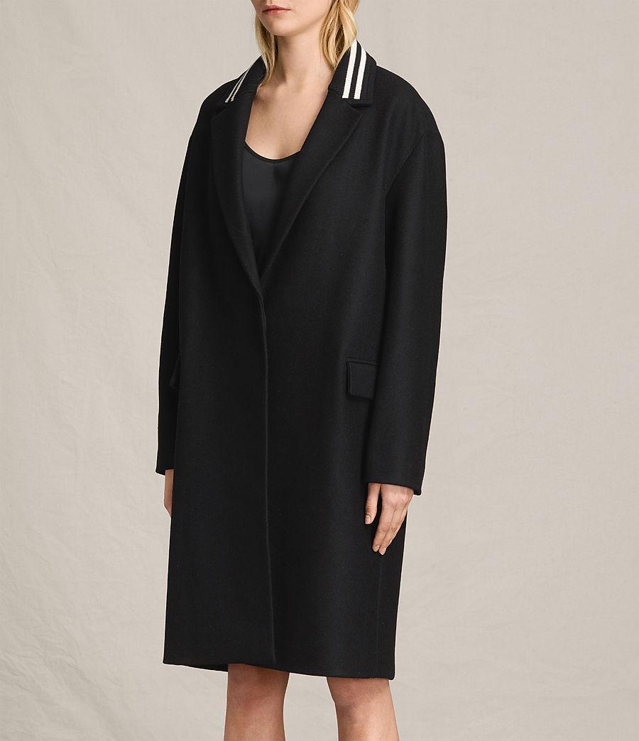 Women's Oren Rib Coat (black) - Image 5