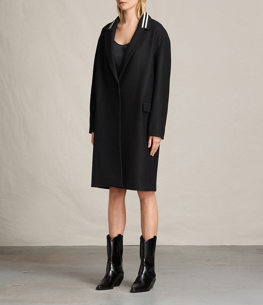 Women's Oren Rib Coat (black) - Image 6