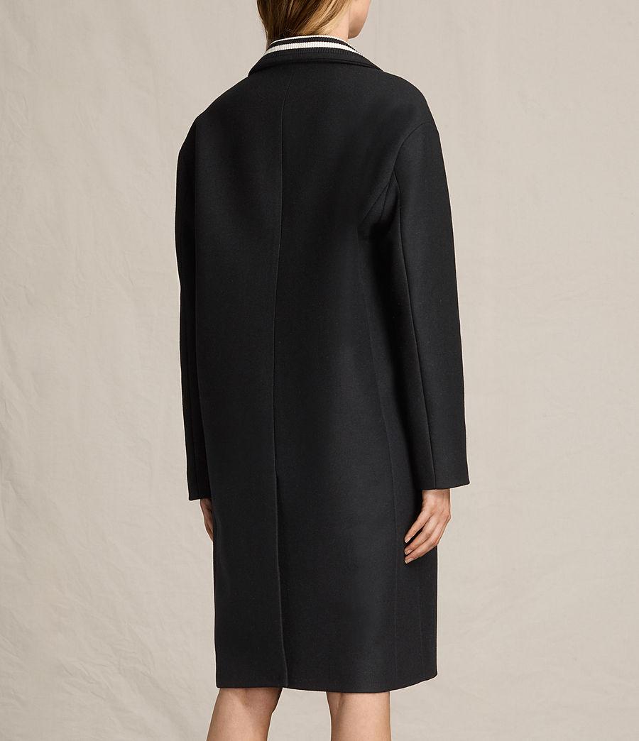 Women's Oren Rib Coat (black) - Image 7