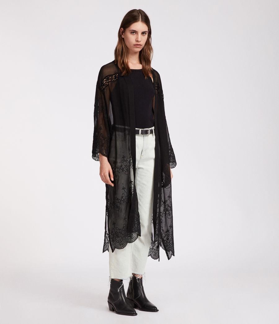 Womens Rosemarie Zinnia Kimono (black) - Image 1