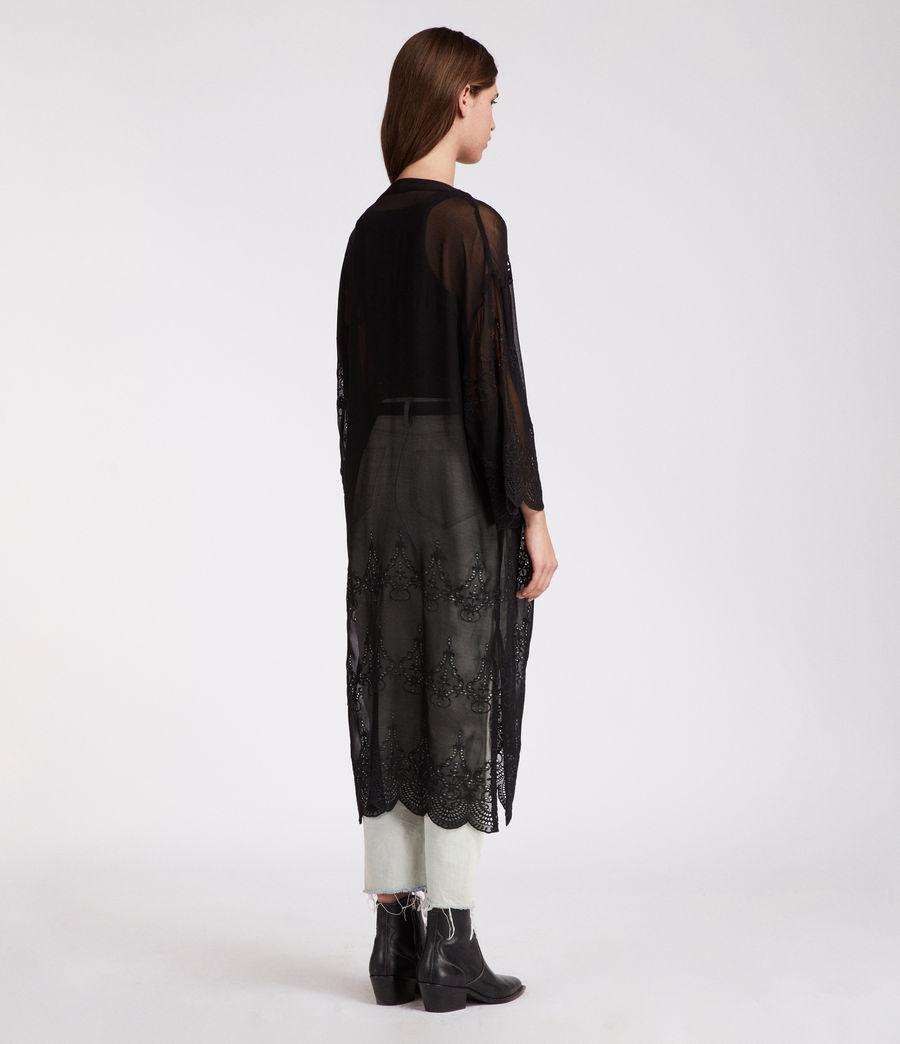 Womens Rosemarie Zinnia Kimono (black) - Image 5