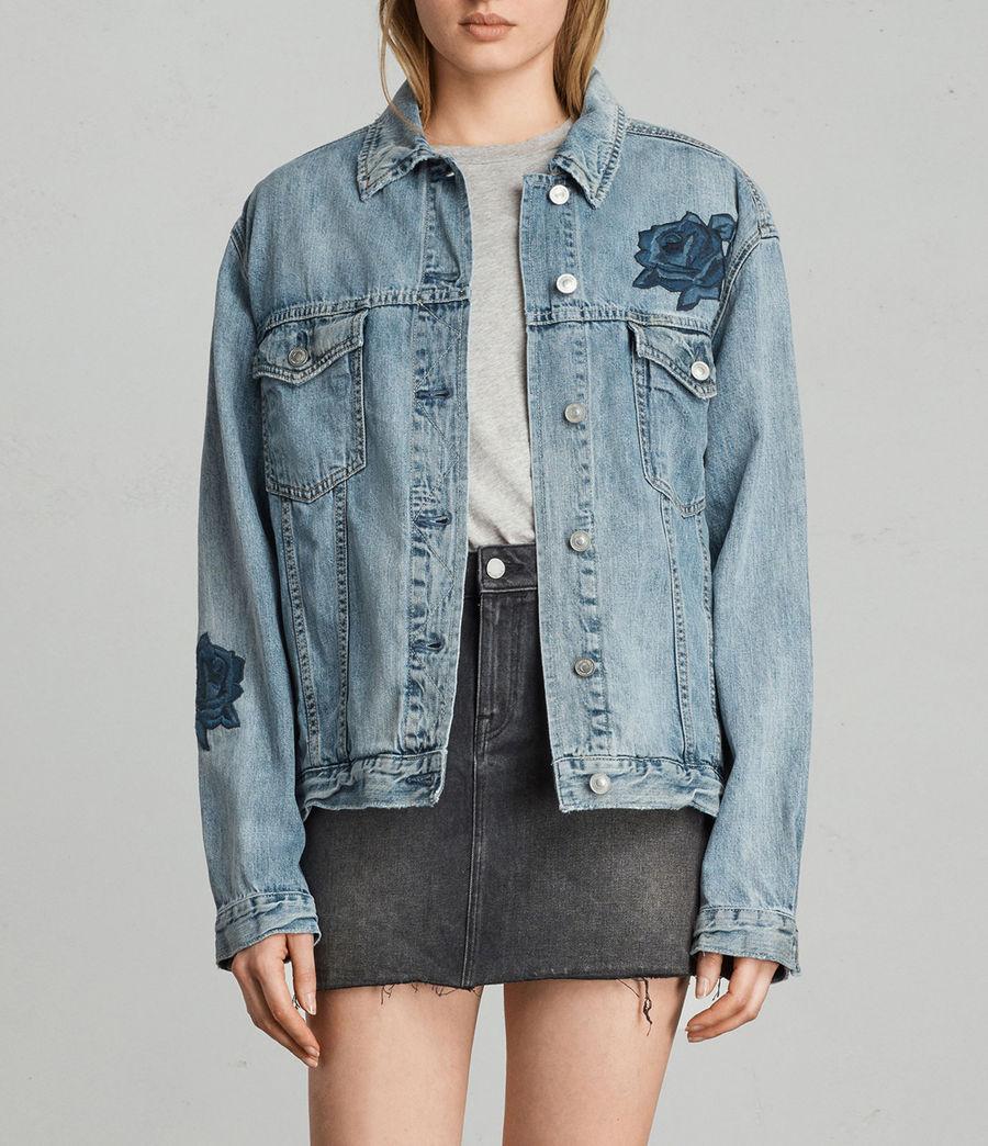 Womens Rose Oversize Jacket (indigo_blue) - Image 2