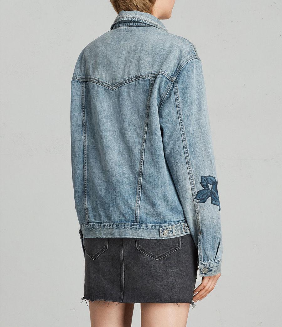Womens Rose Oversize Jacket (indigo_blue) - Image 4
