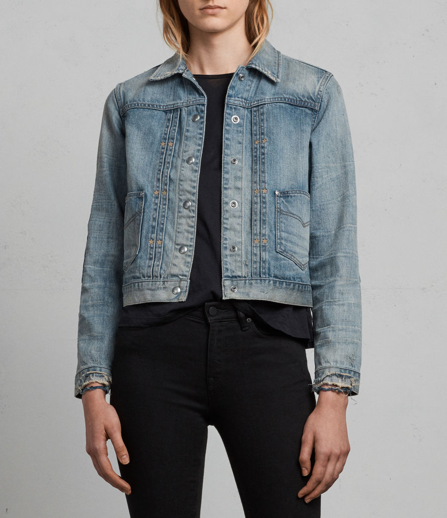 Womens Serene Denim Jacket (indigo_blue) - Image 1