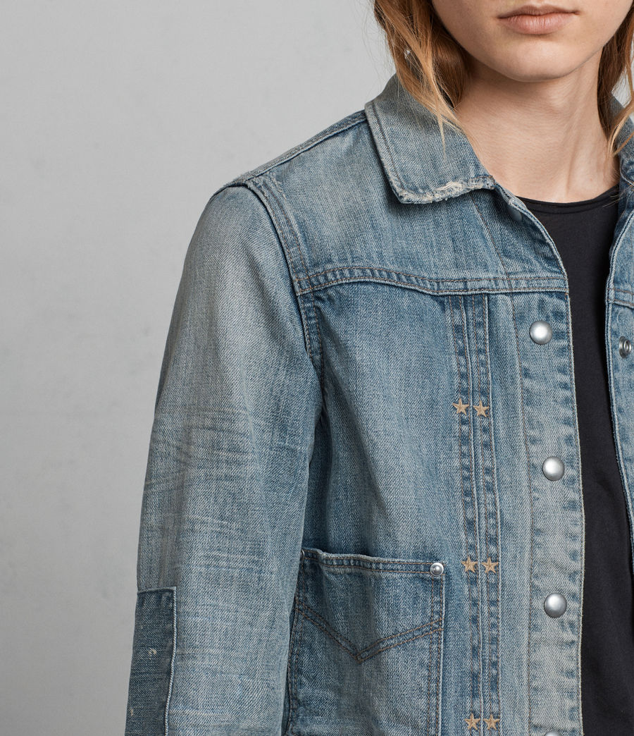 Womens Serene Denim Jacket (indigo_blue) - Image 2