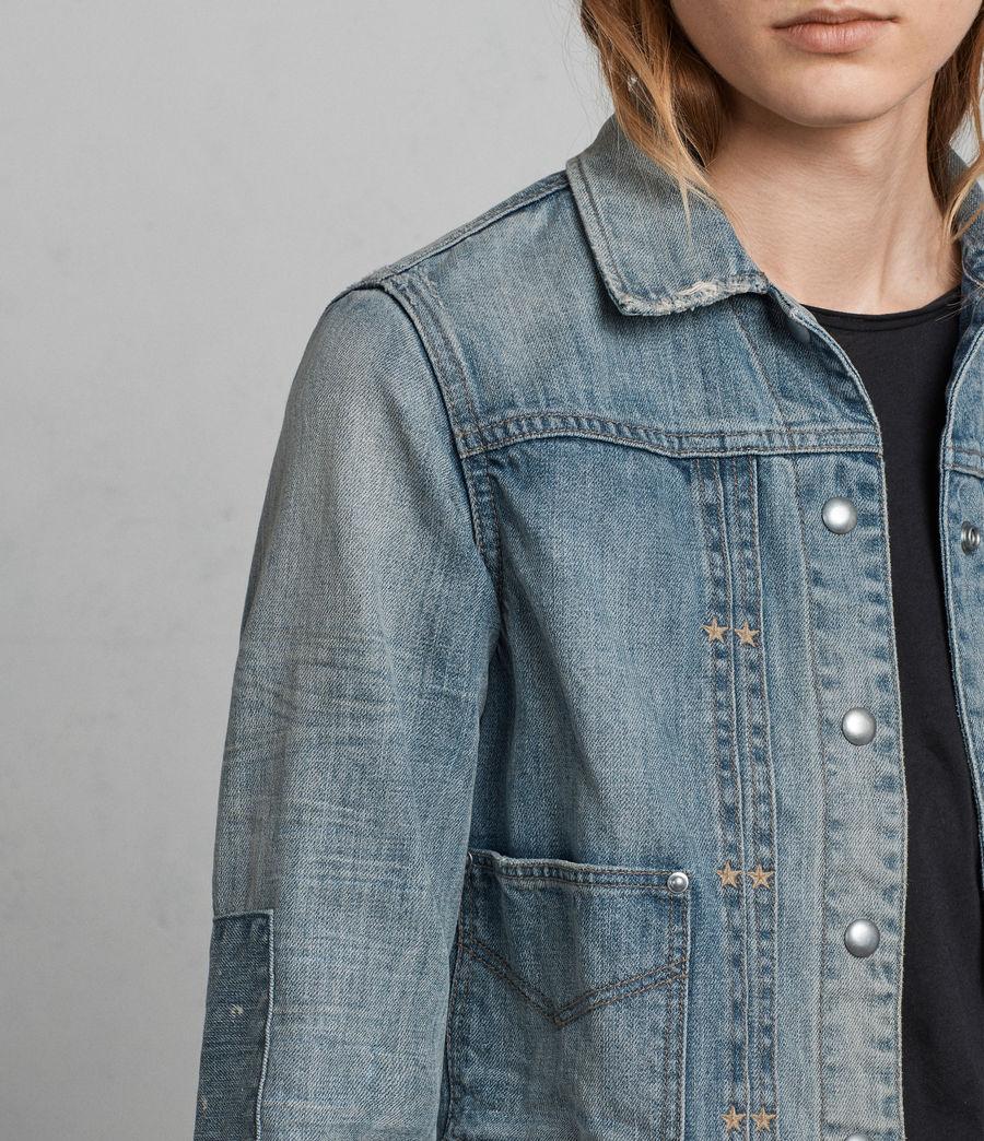 Women's Serene Denim Jacket (indigo_blue) - Image 2