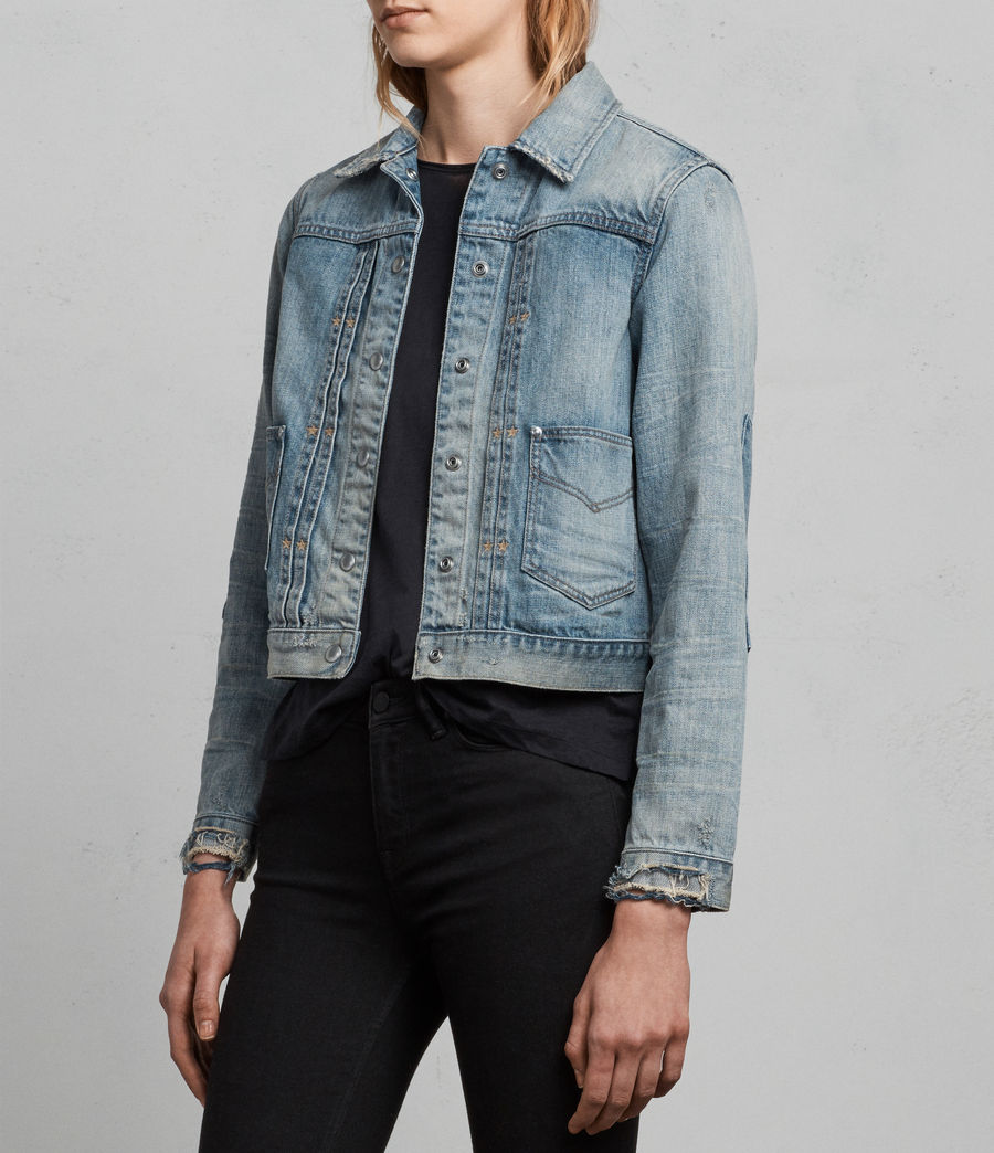 Womens Serene Denim Jacket (indigo_blue) - Image 3
