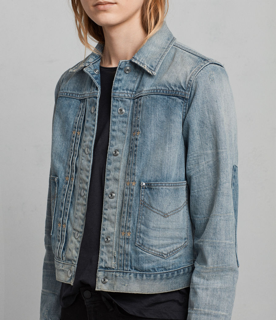 Womens Serene Denim Jacket (indigo_blue) - Image 5