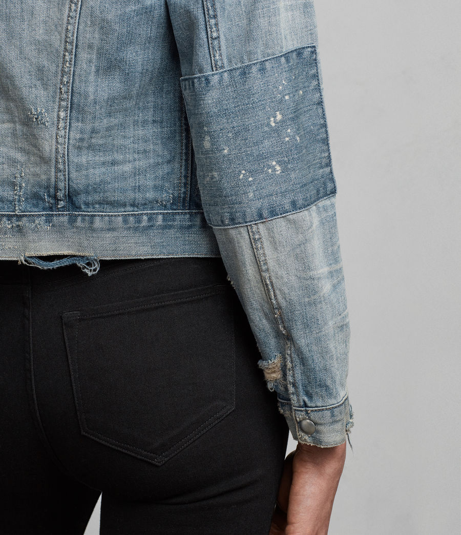 Women's Serene Denim Jacket (indigo_blue) - Image 6