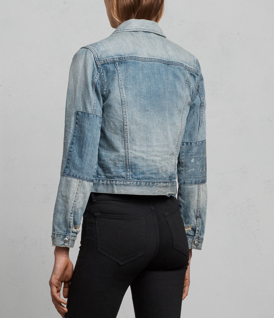 Womens Serene Denim Jacket (indigo_blue) - Image 7
