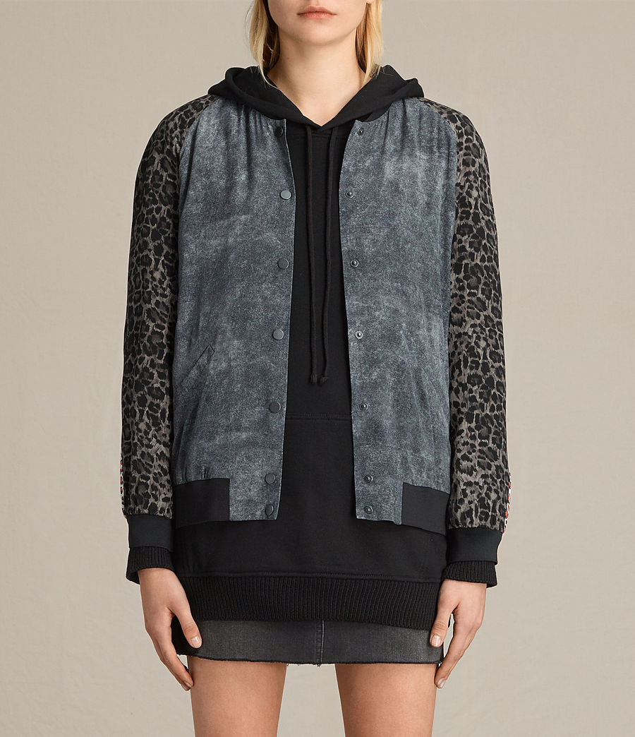 Donne Bomber in seta Amy Skies (grey) - Image 2