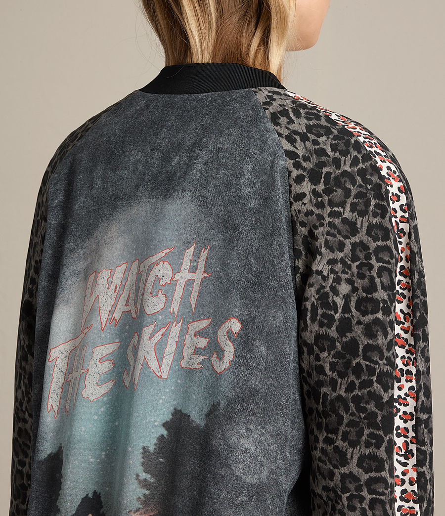Donne Bomber in seta Amy Skies (grey) - Image 3