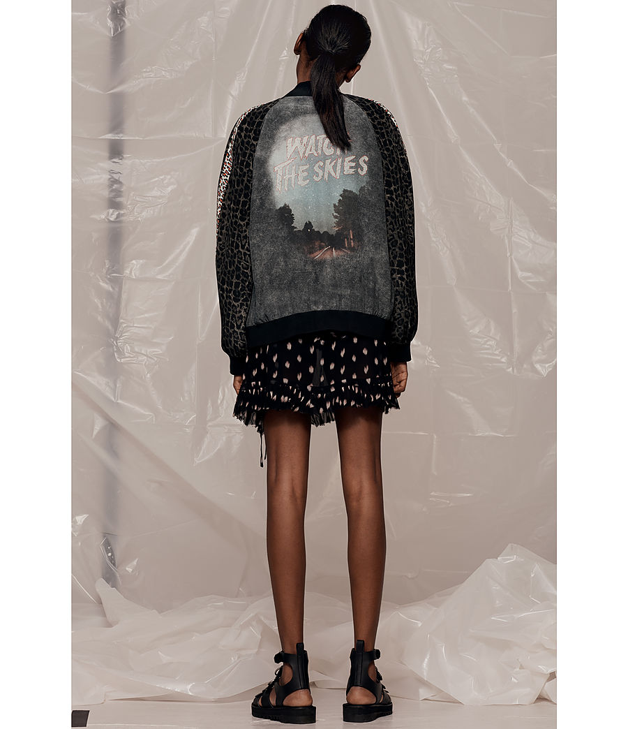 Donne Bomber in seta Amy Skies (grey) - Image 6
