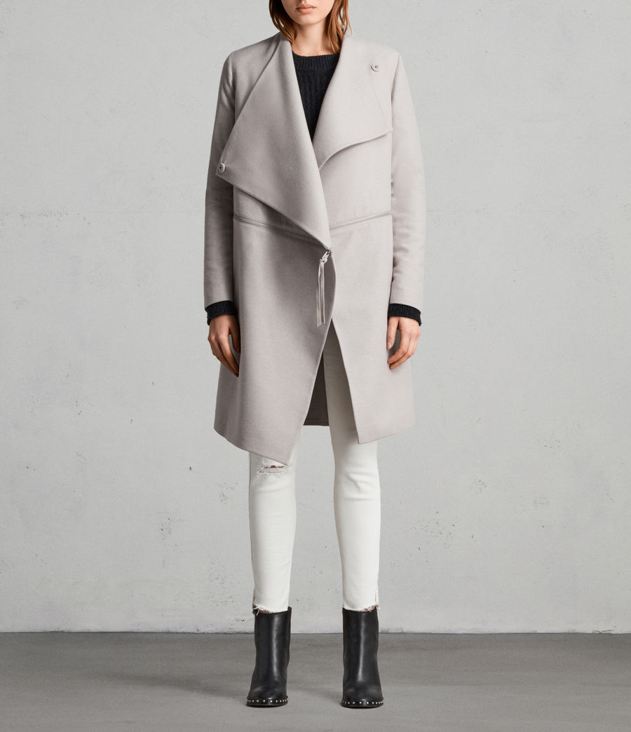 Donne Cappotto Ora Zip (moth_grey) - Image 1