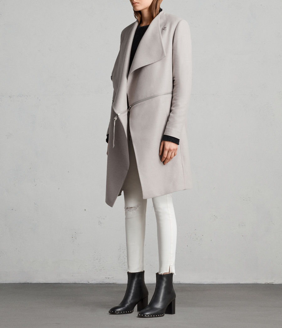 Donne Cappotto Ora Zip (moth_grey) - Image 4