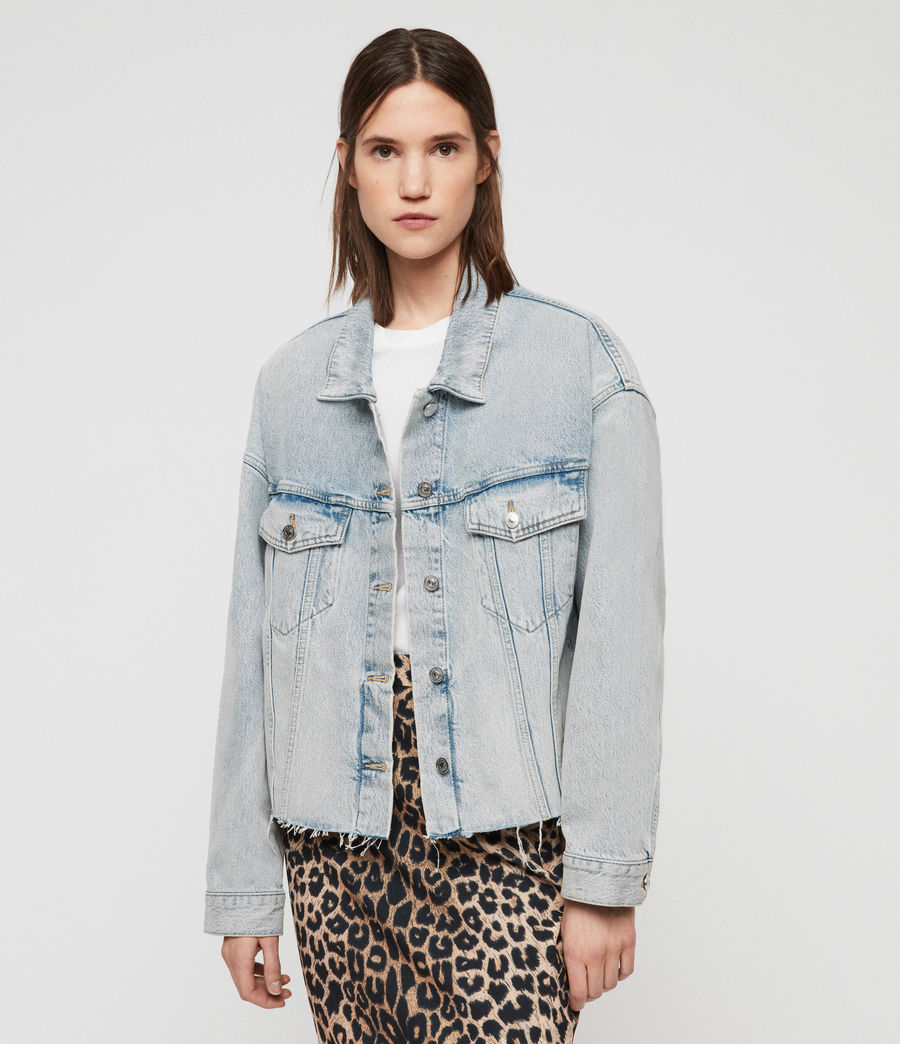 Womens Piper Oversized Denim Jacket (ice_blue) - Image 1