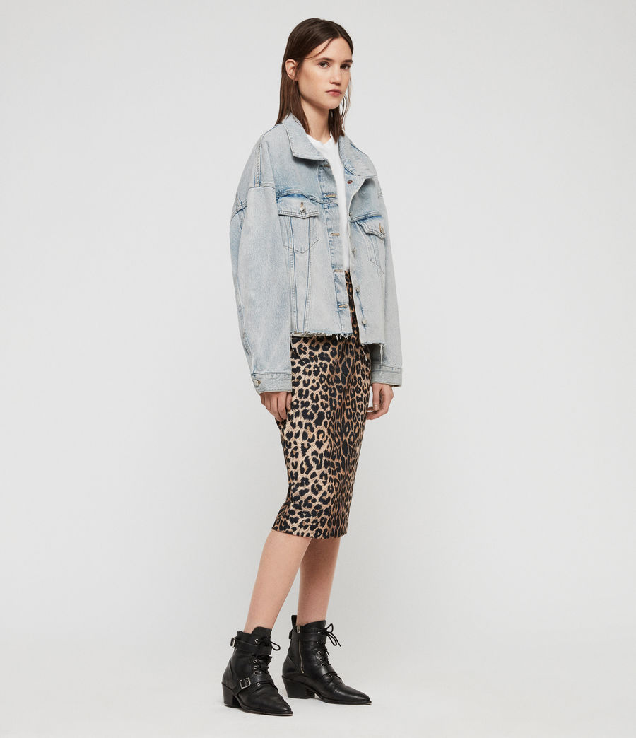 Womens Piper Oversized Denim Jacket (ice_blue) - Image 3