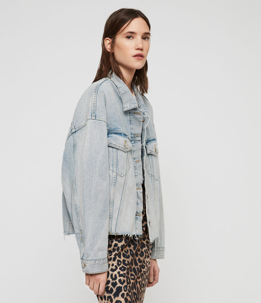 Womens Piper Oversized Denim Jacket (ice_blue) - Image 4