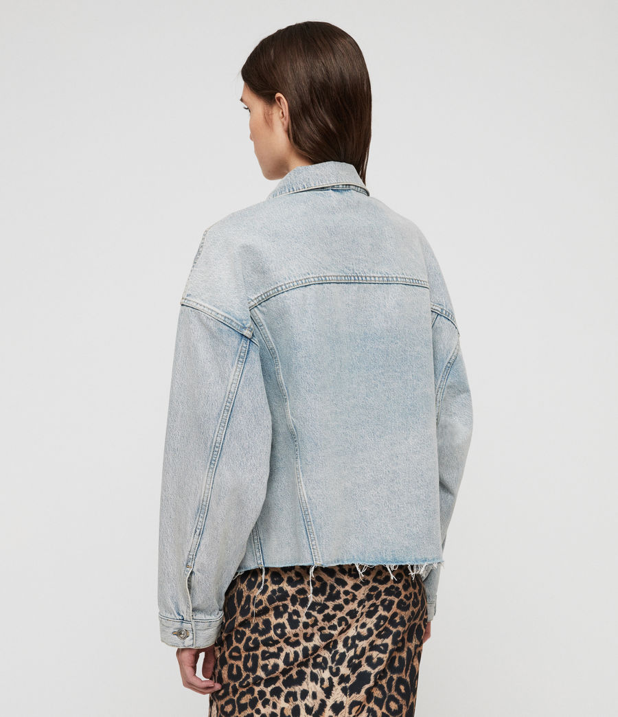 Womens Piper Oversized Denim Jacket (ice_blue) - Image 5