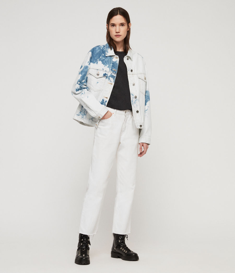 Women's Sage Oversized Denim Jacket (punk_bleach_blue) - Image 1