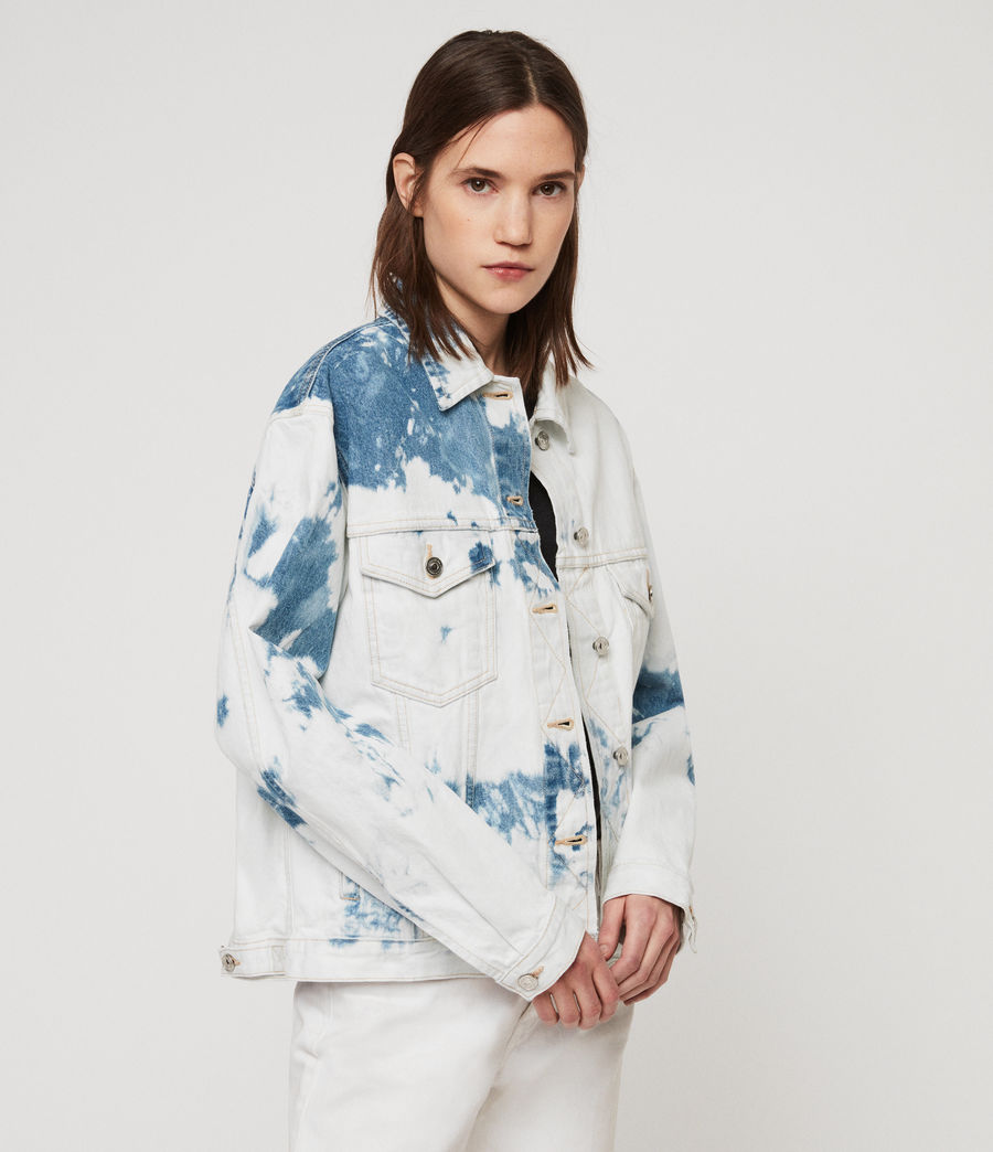 Women's Sage Oversized Denim Jacket (punk_bleach_blue) - Image 2