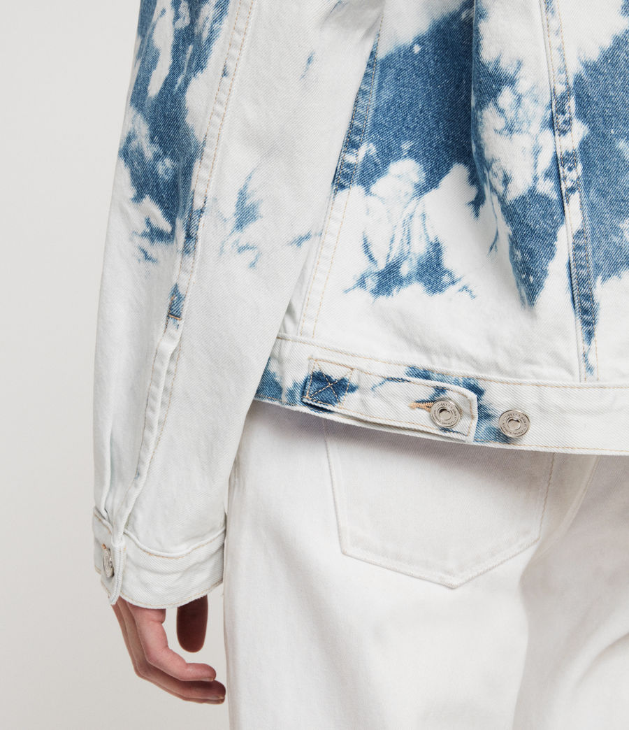 Women's Sage Oversized Denim Jacket (punk_bleach_blue) - Image 4