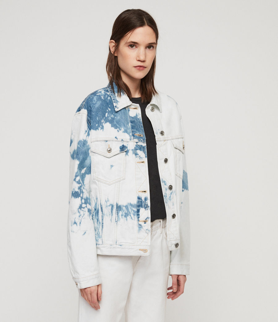 Women's Sage Oversized Denim Jacket (punk_bleach_blue) - Image 5