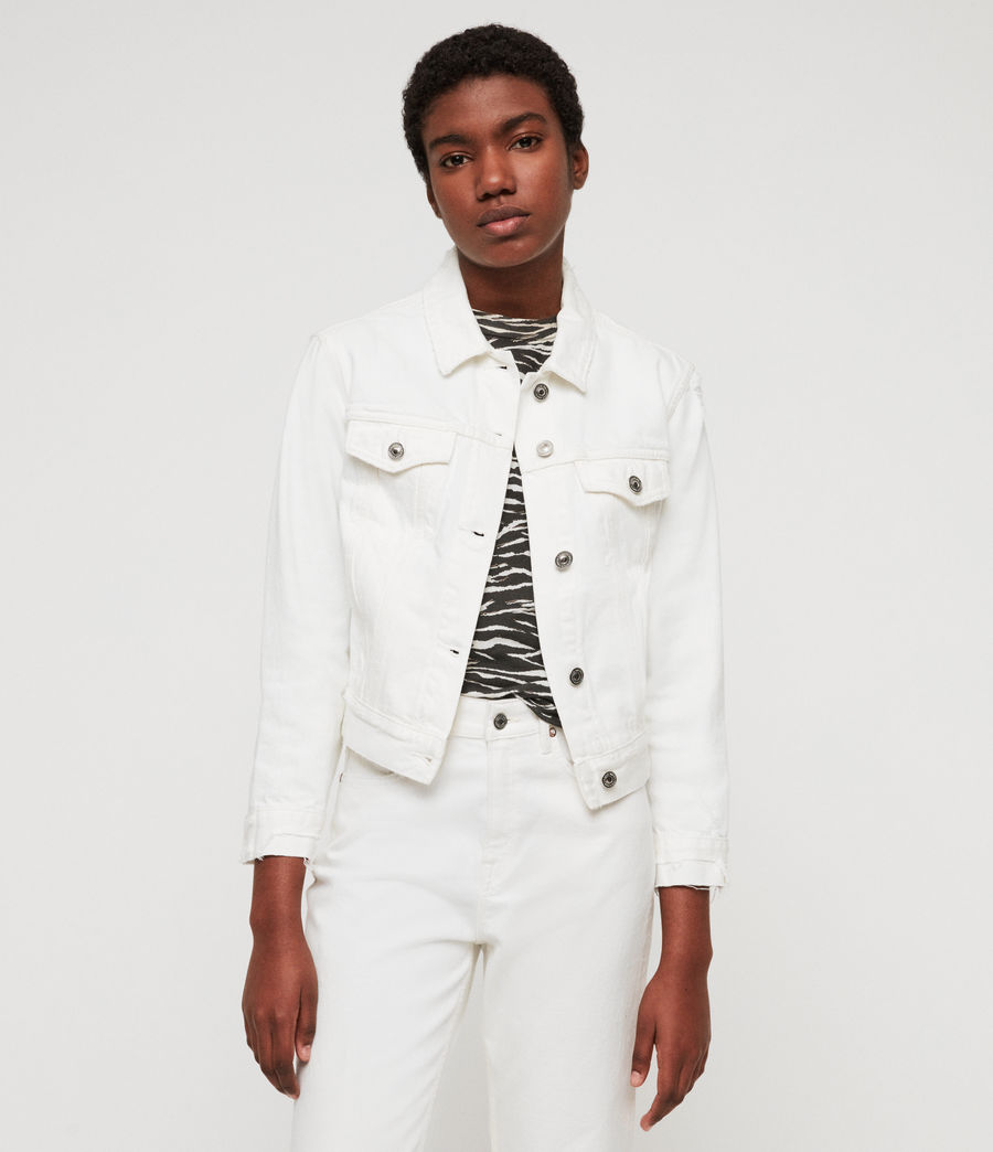 Womens Lexi Denim Jacket (white) - Image 3