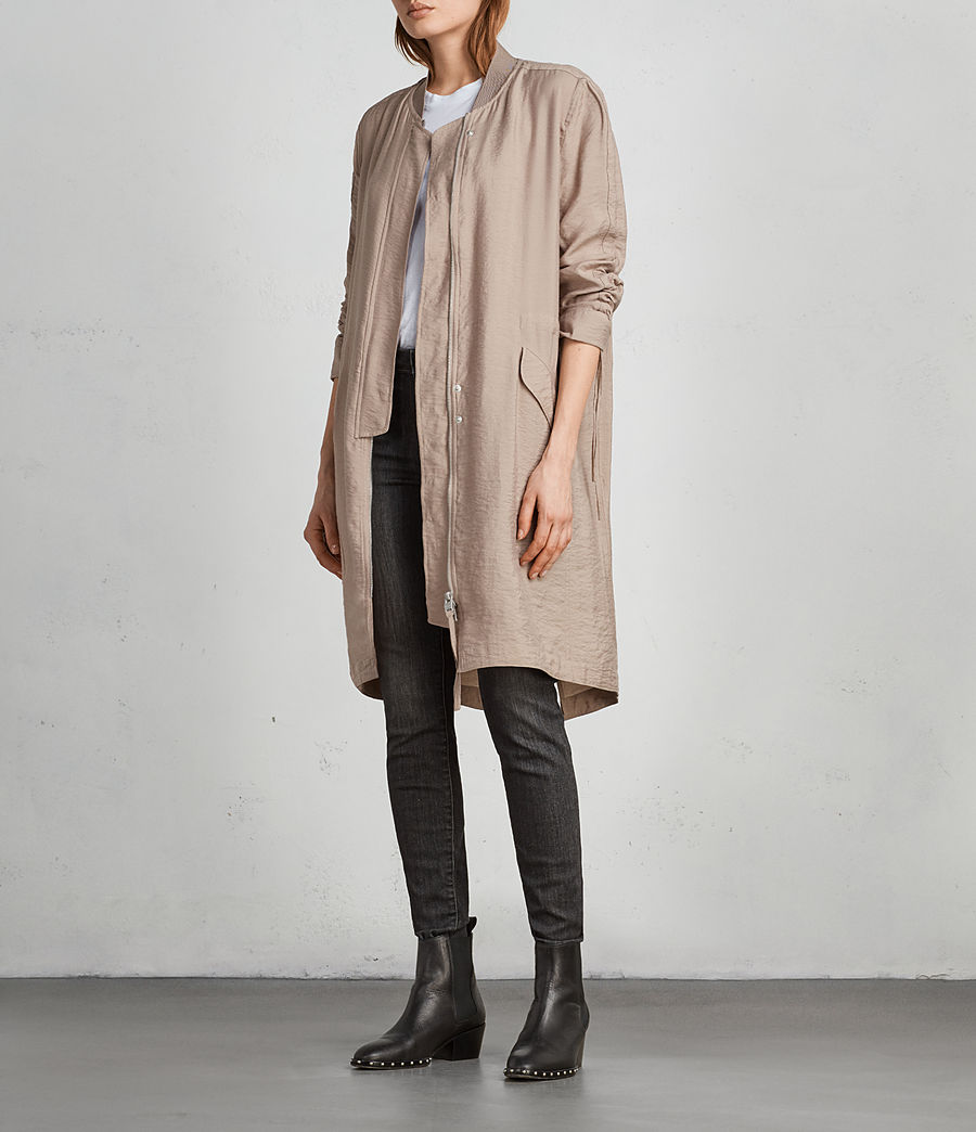 Womens Ellis Parka (dusty_pink) - Image 3