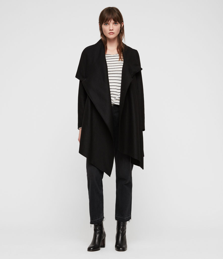 Women's City Monument Coat (black) - Image 1