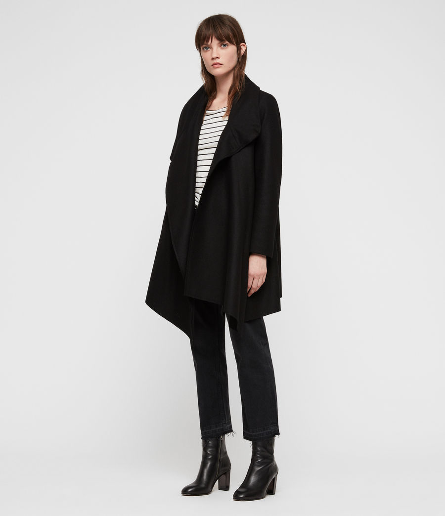 Womens City Monument Coat (black) - Image 3
