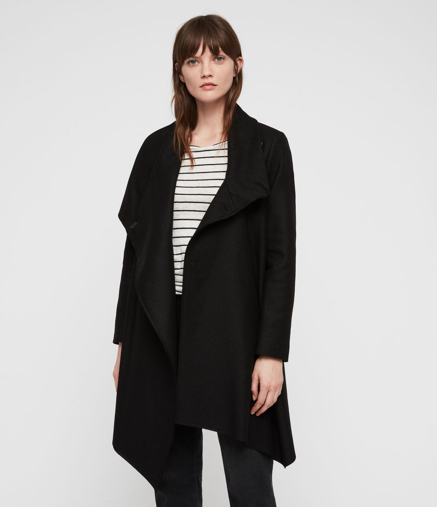 Womens City Monument Coat (black) - Image 5