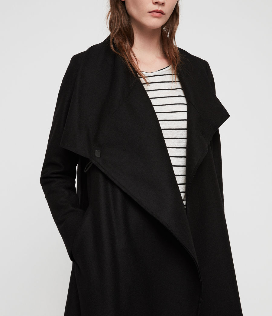 Women's City Monument Coat (black) - Image 7
