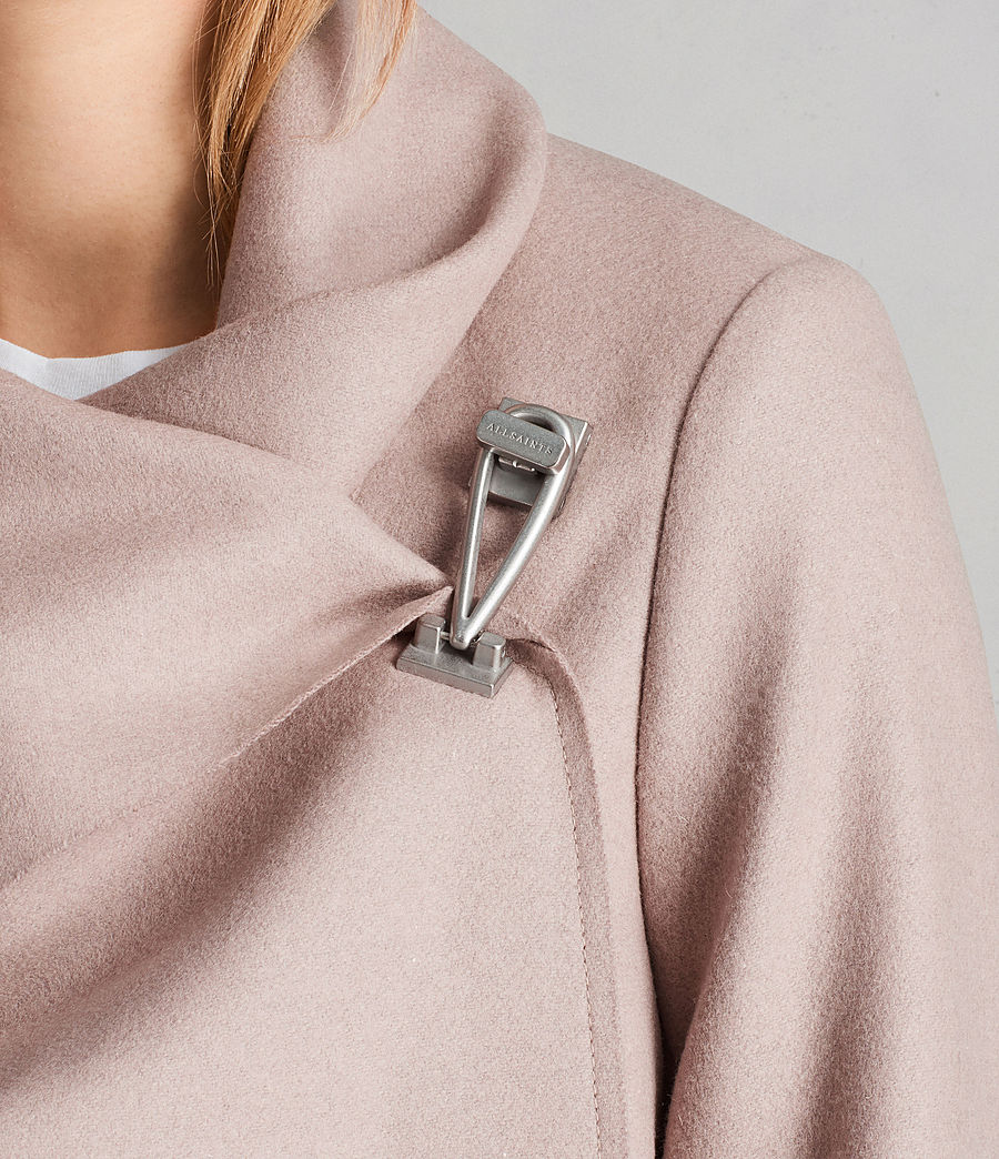Femmes Manteau City Monument (SMOKE PINK) - Image 2