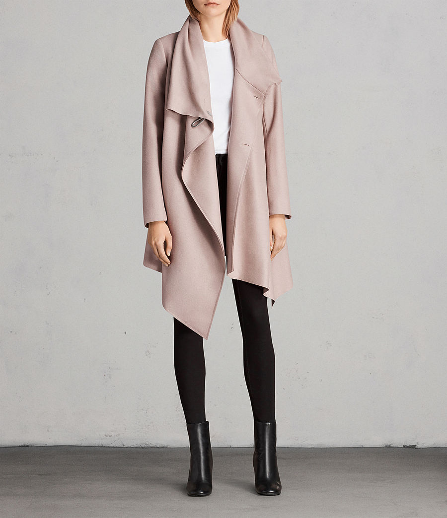 Femmes Manteau City Monument (SMOKE PINK) - Image 5