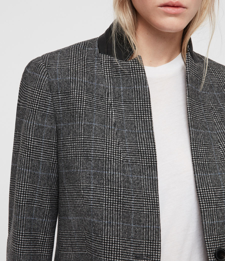 Donne Cappotto Leni Check (grey) - Image 2