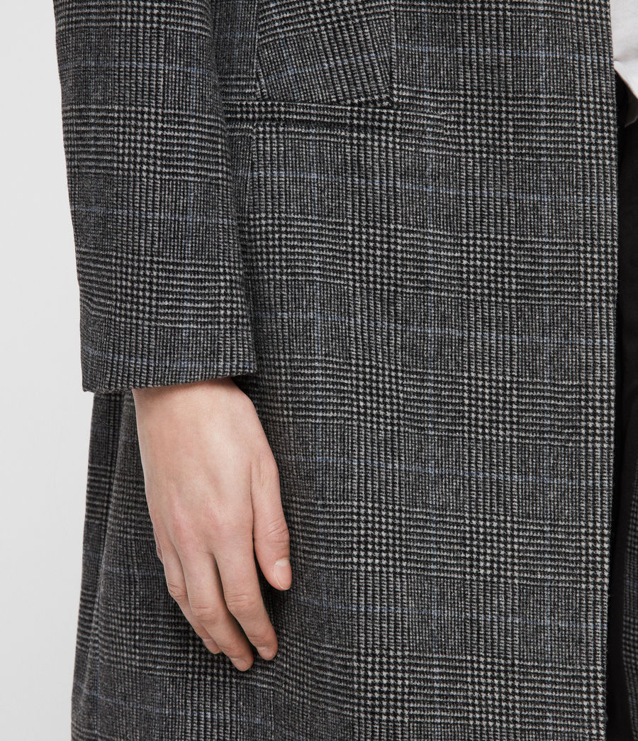 Women's Leni Check Coat (grey) - Image 4