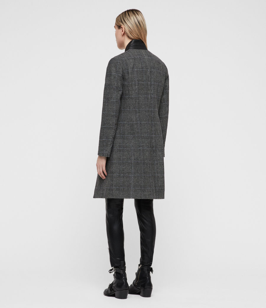 Women's Leni Check Coat (grey) - Image 5