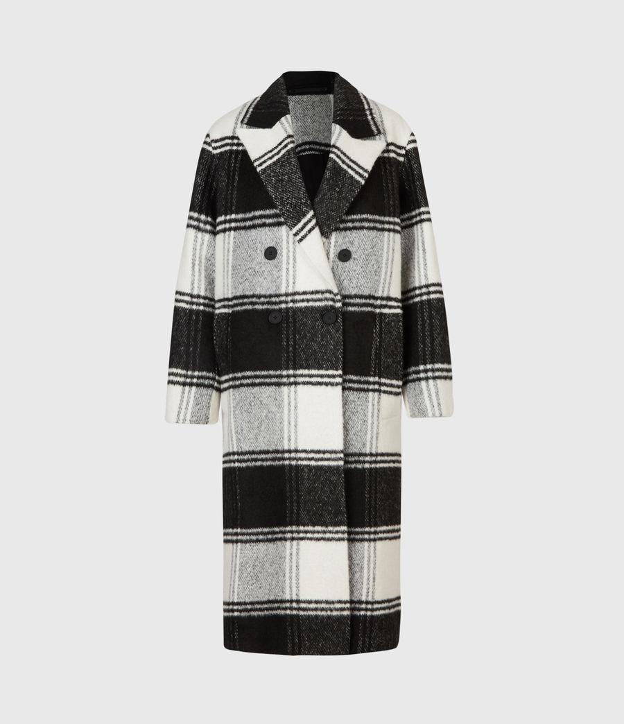 Womens Lottie Check Coat (black_white) - Image 5