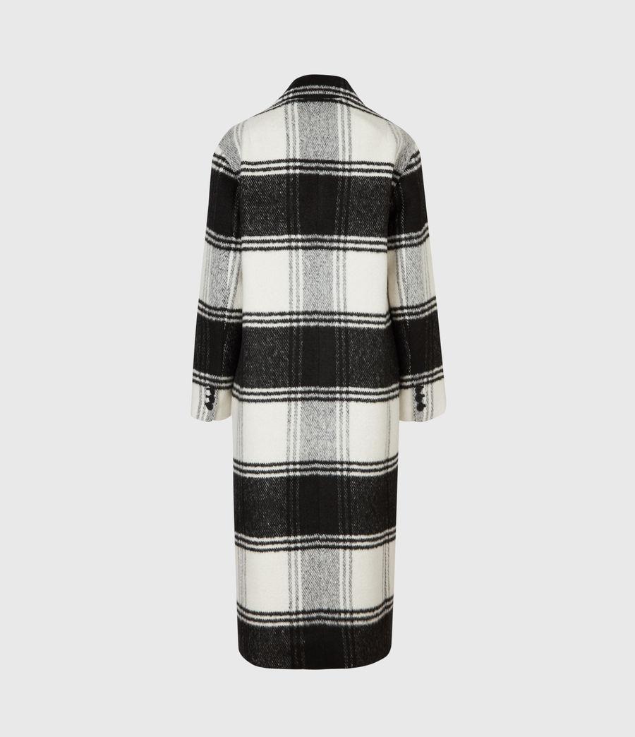 Women's Lottie Check Coat (black_white) - Image 6
