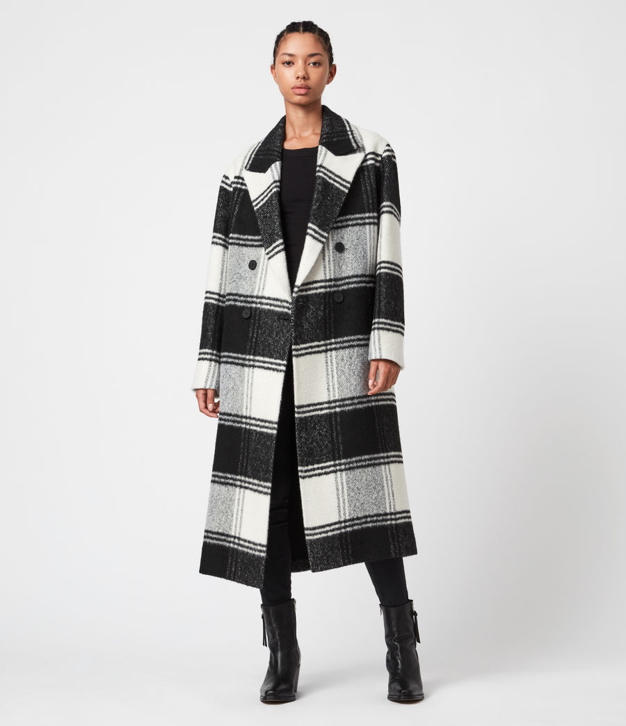 Long Line Check Coat