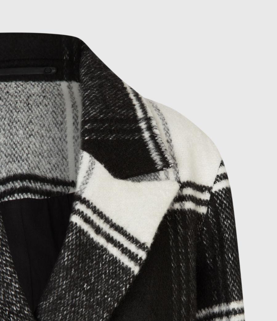 Womens Lottie Check Coat (black_white) - Image 1