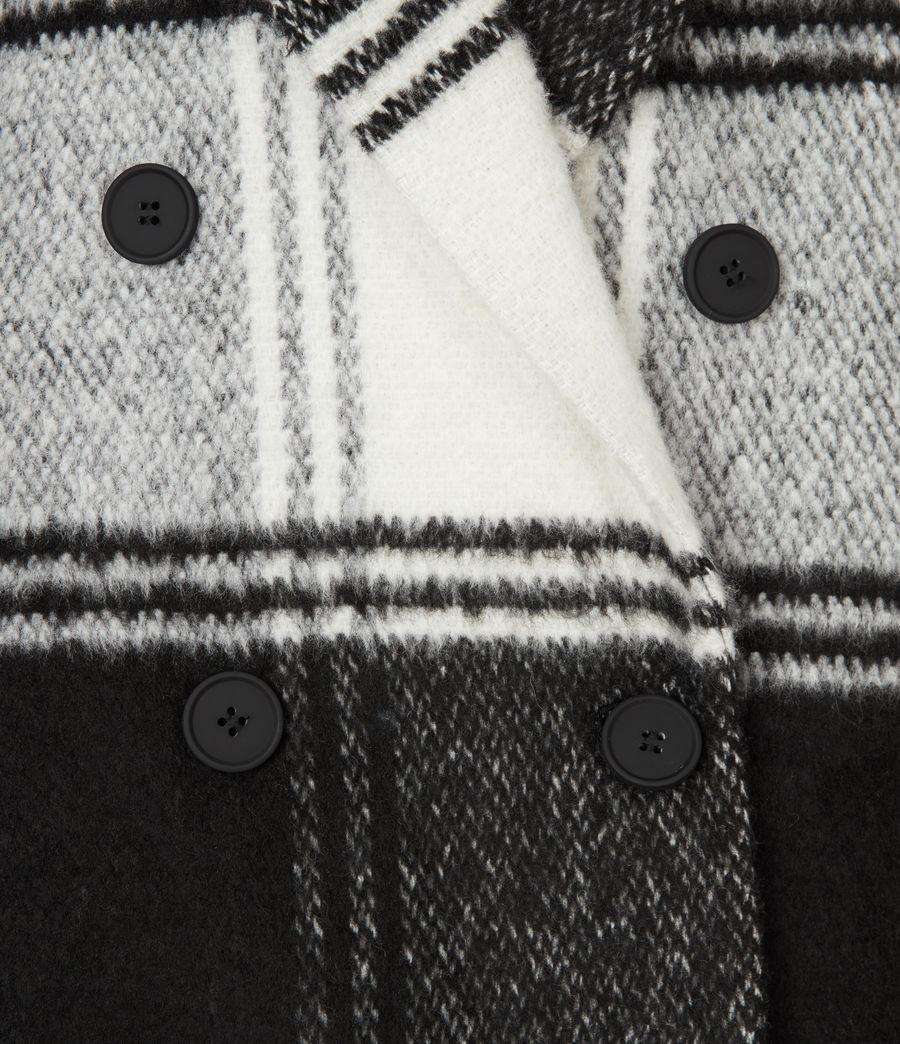 Women's Lottie Check Coat (black_white) - Image 3