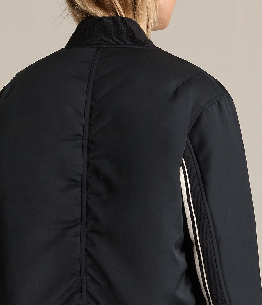 Damen Cissi Bomberjacke (black) - Image 2