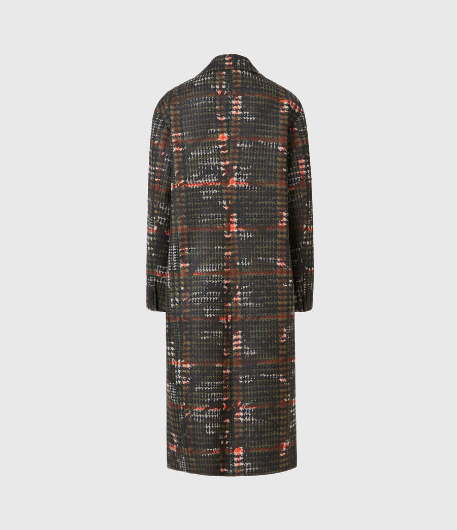 Womens Lottie Wool Blend Camo Coat (black_orange) - Image 3