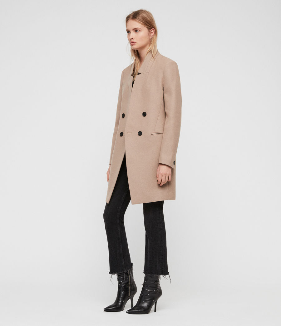 Womens Adrea Coat (light_tan_brown) - Image 1