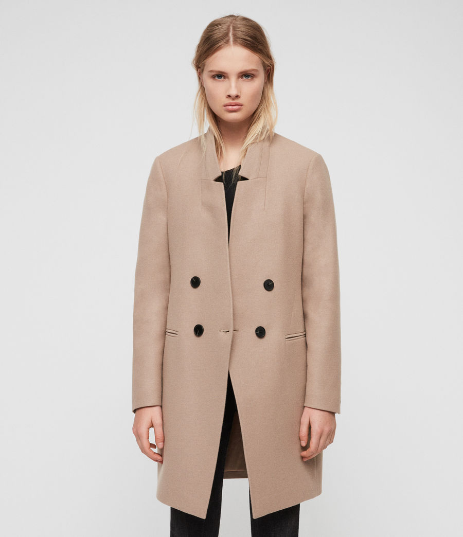 Womens Adrea Coat (light_tan_brown) - Image 3